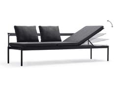 Lettino da giardino reclinabile in Batyline® SOL+LUNA AUSTRALIS -