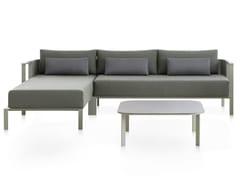 Divano da giardino in alluminio termolaccato con chaise longue SOLANAS | Divano componibile - Solanas