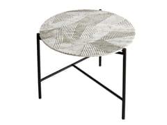 Tavolino rotondo in marmo di Carrara da salottoSOLCO | Tavolino - RADAR INTERIOR