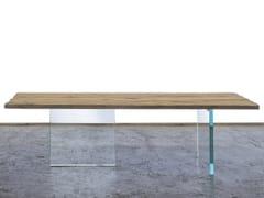 Tavolo da pranzo rettangolare in legno di recuperoSOLIGO - A&B ROSA DEI LEGNI BY ANTICA EDILIZIA