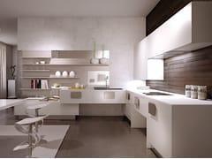 Cucina componibile laccata in legno senza maniglieSOLOBIANCO - SCIC