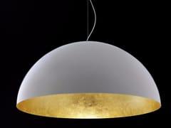 Lampada a sospensione a luce diretta foglia oro e PMMA SONORA - 490/OR -