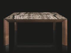 Tavolo rettangolare in legno massello con top in pietraSOPRANO - H-07