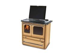 Cucina a legna con rivestimento in acciaio porcellanatoSOVRANA EVO 2.0 - LA NORDICA EXTRAFLAME