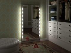 Specchio rettangolare in alluminio da parete con illuminazione integrataSP302 - CANTONI TRADING