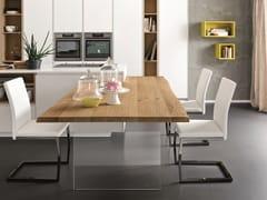 Tavolo a penisola da cucina rettangolare in rovereSP. 45 + ICE - ALTA CORTE