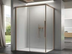 Box doccia angolare in vetro con porta scorrevoleSPACE | Box angolare apertura lato - DISENIA