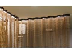 Tenda a fili in alluminioSPACE DIVIDER - UNDULATED RESTAURANT - KRISKADECOR