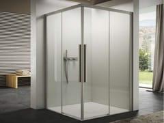 Box doccia rettangolare in vetro con porta scorrevoleSPACE | Box doccia doppio scorrevole - DISENIA