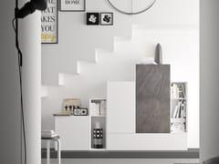 Parete attrezzata componibile fissata a muro modulare SPAZIO S308 - Spazio