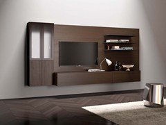 Parete attrezzata componibile fissata a muro modulare SPAZIO S433 - Spazio