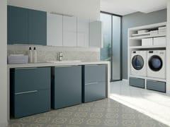 Mobile lavanderia componibile con lavatoio per lavatriceSPAZIO TIME 02 | Mobile lavanderia con lavatoio - IDEAGROUP