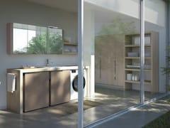 Mobile lavanderia componibile con lavatoio per lavatriceSPAZIO TIME 04 | Mobile lavanderia con lavatoio - IDEAGROUP
