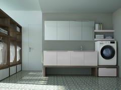 Mobile lavanderia componibile con lavatoio per lavatriceSPAZIO TIME 06 | Mobile lavanderia con lavatoio - IDEAGROUP