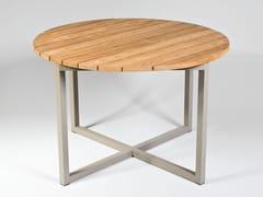 Tavolo da pranzo rotondo in alluminio e legnoSPIKES | Tavolo rotondo - SACHI