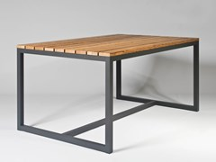 Tavolo da pranzo rettangolare in alluminio e legnoSPIKES | Tavolo rettangolare - SACHI