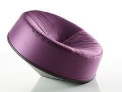 Poltrona girevole relax in tessuto e metalloSPIN - BBB