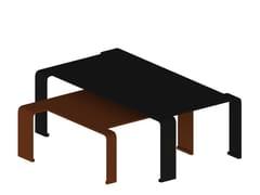 Tavolino da caffè in metalloSPIN - ZEUS