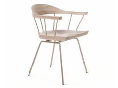 Sedia in acciaio e legno con braccioliSPINDLE | Sedia - BASSAMFELLOWS