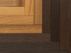 Paruqet in noce africano e wengeSPINE | Parquet - T.T. PROJECT INTERNATIONAL