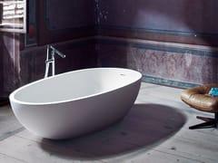 Vasca da bagno centro stanza ovale in Cristalplant®SPOON XL | Vasca da bagno - AGAPE