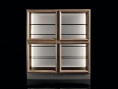 Vetrina in legno masselloSQ CASE - H-07