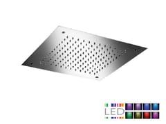 Soffione doccia a LED da incasso in acciaio inox con cromoterapia SQ0-L7   Soffione doccia con cromoterapia - Cromoterapia