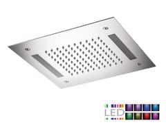 Soffione doccia a LED da incasso in acciaio inox con cromoterapia SQL-08   Soffione doccia con cromoterapia - Cromoterapia