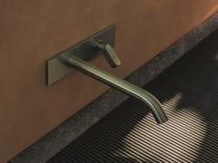 Miscelatore per lavabo a muro in acciaio inoxSQUARE - AGAPE