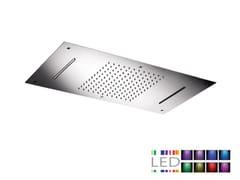 Soffione doccia a LED da incasso in acciaio inox con cromoterapia SRL-06   Soffione doccia con cromoterapia - Cromoterapia