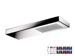 Soffione doccia a LED a muro a pioggia in acciaio inox in stile moderno SRL-08   Soffione doccia con cromoterapia - Cromoterapia