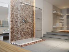 MOMA Design, ST. 200 Box doccia a due posti rettangolare in vetro con porta scorrevole