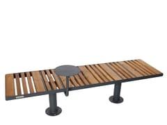 Panchina in acciaio e legno senza schienaleSTAR 2 - PUNTO DESIGN