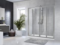 Box doccia angolare con porta a soffiettoSTAR | 2S + F - NOVELLINI