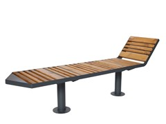 Panchina in acciaio e legno senza schienaleSTAR 3 - PUNTO DESIGN