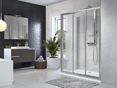 Box doccia angolare con porta scorrevoleSTAR | 3P + F - NOVELLINI