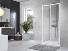 Box doccia angolare con porta a battenteSTAR | B + F - NOVELLINI
