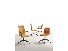 Sedia ufficio girevole imbottita in tessutoSTAR DSA - MIDJ