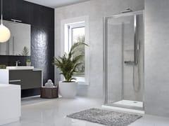 Box doccia angolare con porta a battenteSTAR | G + F - NOVELLINI