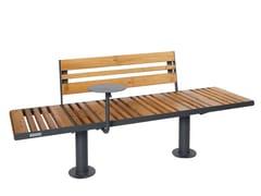 Punto Design, STAR | Panchina con schienale  Panchina con schienale