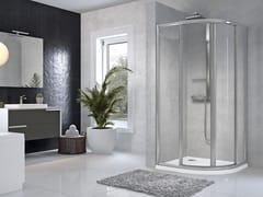 Box doccia semicircolare con porta scorrevoleSTAR | R - NOVELLINI