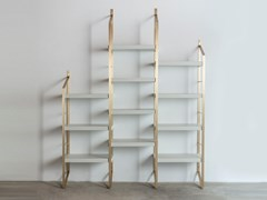 Libreria a giorno modulare in ottoneSTEP - MEDULUM
