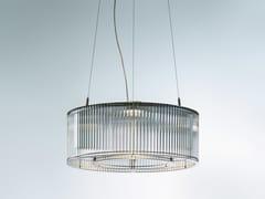 Lampada a sospensione a LED in acciaio inox e vetro STILIO UNO 550 - Stilio Uno