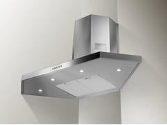Cappa ad angolo in acciaio inox con illuminazione integrata classe CSTILO ANGOLO/SP - FABER