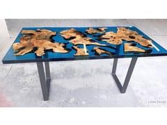 Tavolo in resina e radica di ulivoSTOCCOLMA | Tavolo in resina - ANTICO TRENTINO DI LUCIO SEPPI