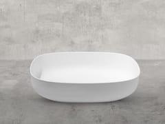 Lavabo ovale in Cristalplant®STONE EVO | Lavabo - AQUADESIGN STUDIO