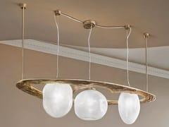 Lampada a sospensione in vetro soffiato e metalloSTONE | Lampada a sospensione - PATRIZIA VOLPATO