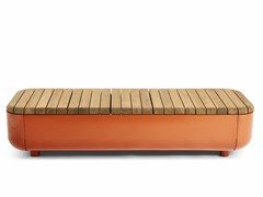 VESTRE, STONES Panchina in acciaio e legno