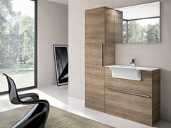 Mobile lavanderia a colonna con lavatoioSTORE 408 - GRUPPO GEROMIN