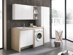 Gruppo Geromin, STORE 416 Mobile lavanderia con lavatoio per lavatrice